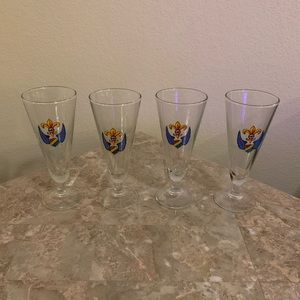 Armenian Crest Glass Cups - Set of 4